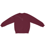 "the ""stars around my scars"" maroon pullover back"