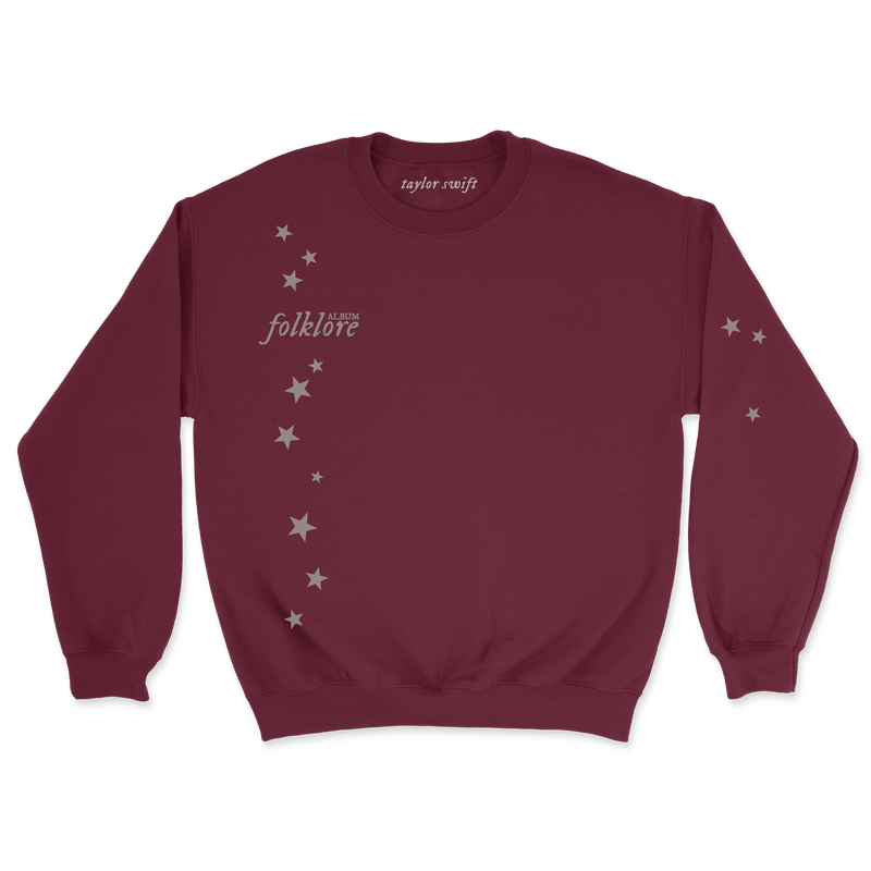 "the ""stars around my scars"" maroon pullover front"