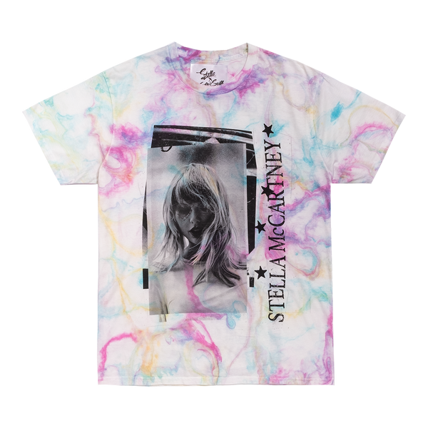 STELLA X TAYLOR SWIFT MARBLE DYE TEE WITH TRACKLIST DESIGN