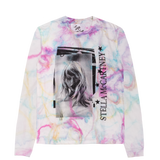Stella X Taylor Swift Multicolor Marble Dye Long Sleeve Tee With Tracklist Design