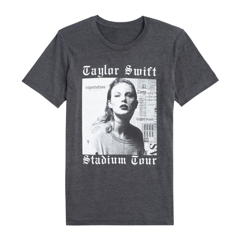 Front of the DARK GREY HEATHER ALBUM TOUR TEE