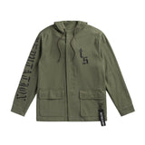 Front of the OLIVE TOUR JACKET WITH SNAKE DESIGN
