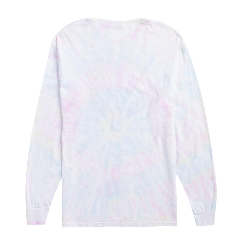 TIE DYE LONG SLEEVE WITH FLOWER HEART DESIGN