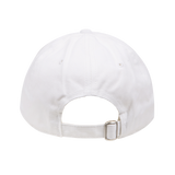 White Cap with Multicolor Embroidery