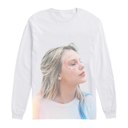 White Long Sleeve Tee with Photo