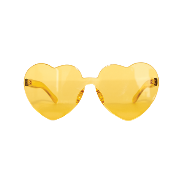 Yellow Heart-Shaped Sunglasses