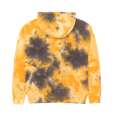 Yellow and Gray Tie-Dye Hoodie