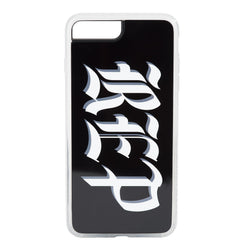 BLACK PHONE CASE with rep letters