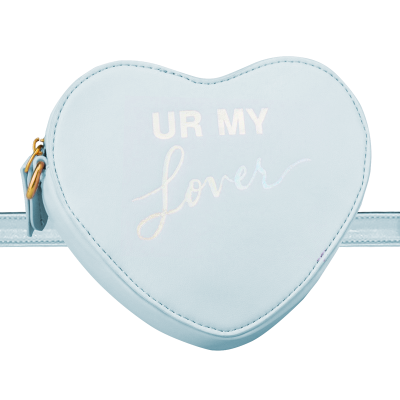 HEART-SHAPED CONVERTIBLE LYRIC BAG BLUE