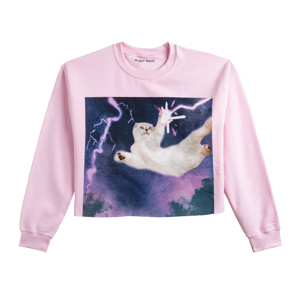 Front of the PINK CROPPED SWEATSHIRT