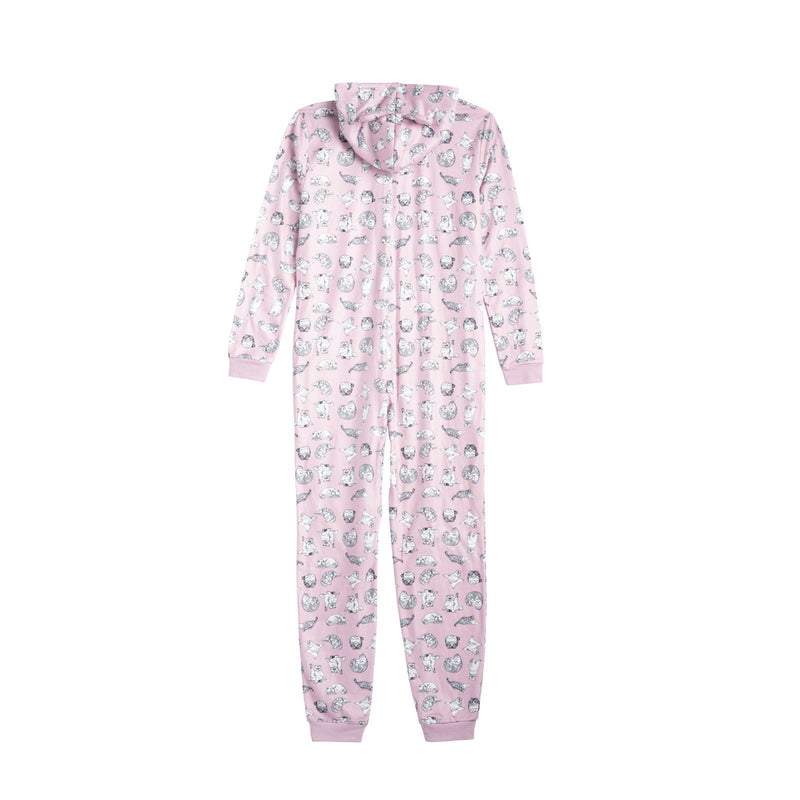Back of the PINK MEREDITH AND OLIVIA PJ'S