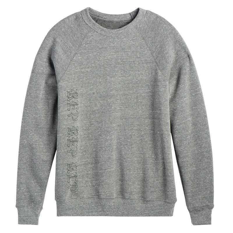 Front of the HEATHER GREY SWEATSHIRT
