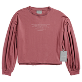 "the ""auroras and sad prose"" cropped long sleeve"