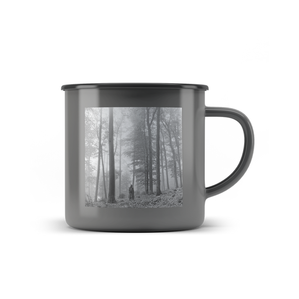 "the ""in the trees"" metal mug"