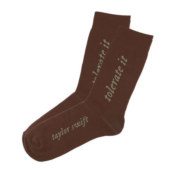 "the ""tolerate it"" socks"