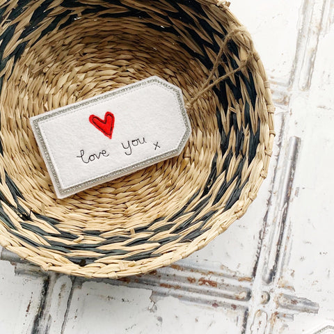 Tink&Reu | Personalised Heart Fabric Gift Tags
