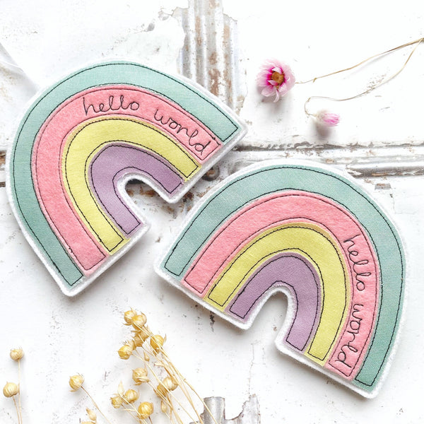 "Tink&Reu | Grey & White ""Home"" Bunting With Lace Trim"