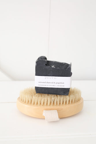 activated charcoal and grapefruit soap bar