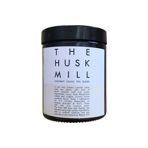 The Husk Mill cacao tea. Coconut cacao tea. Australian made artisan tea.
