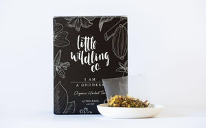 Little Wildling Co I am a Goddess tea bags.