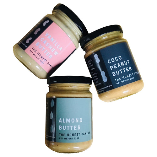 the honest pantry, artisan, nut butters, the luxe pantry, almond butter, cashew nut butter