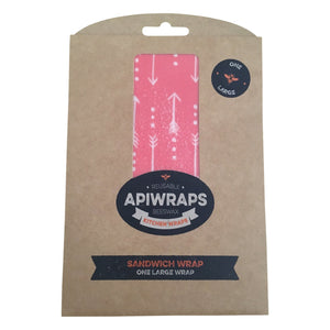 Apiwraps pink and white beeswax wraps. Australian made beeswax wraps.