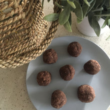 The Fit Foodie protein balls. Chocolate and Chia protein balls.
