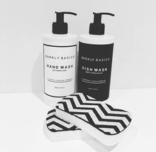 Barkly Basics hand wash, dish wash and chevron sponge pack.