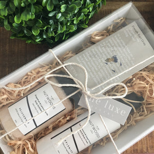 Hutwoods bath and body products and Love Tea gift pack