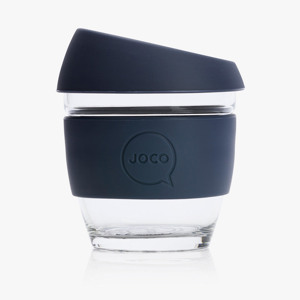 Joco - Reusable Glass Cup 8oz/236ml Mood Indigo