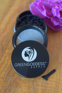 "Green Goddess Supply 2.5"" inch Black Grinder"