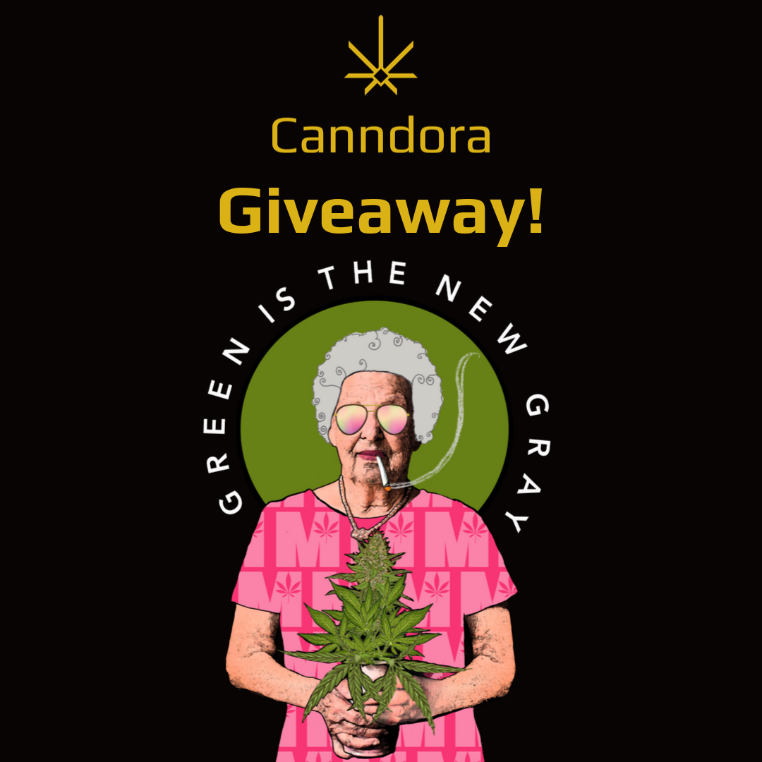 green is the new gray giveaway from canndora and mimi cannabis