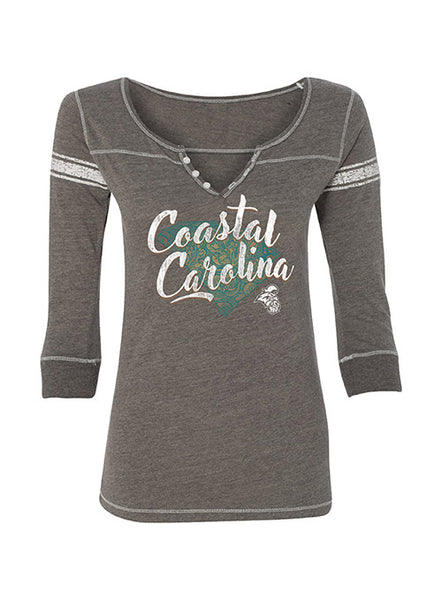 Coastal Carolina 3/4 Sleeve Henley