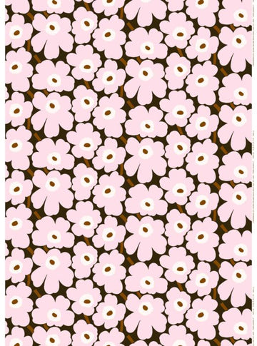 Pieni Unikko cotton fabric by the meter. Pink.