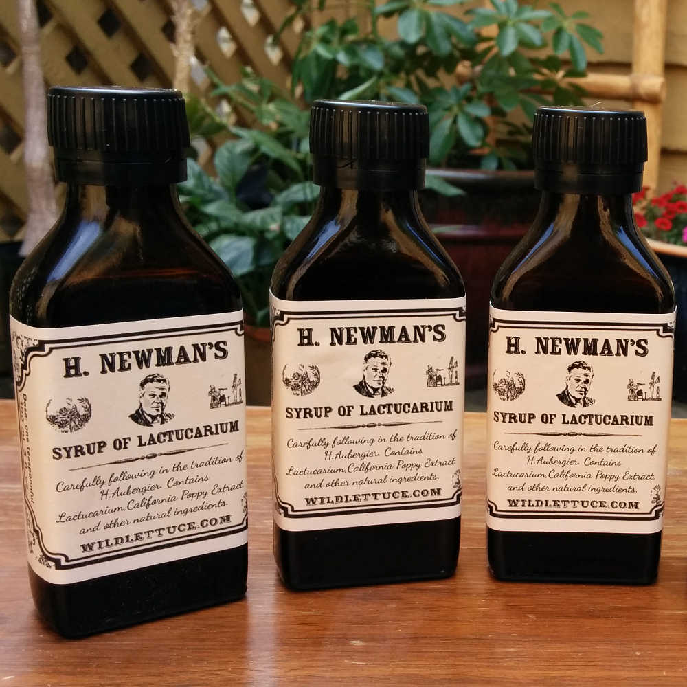 100 ml bottles of H. Newman's Syrup of Lactucarium