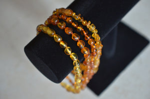"12"" Translucent Amber Bead Teething Necklace"