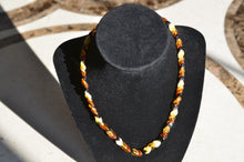 "16"" Twisted Multicolored Amber Necklace"