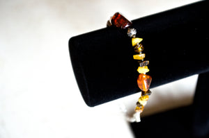 Multicolored Amber Bead Bracelet