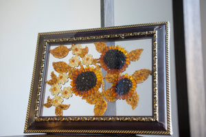 "3""X5"" Multicolored Amber Sunflower Frame"