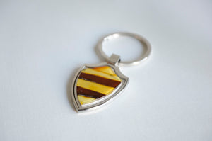 "2"" Multicolored Amber Shield Keychain"
