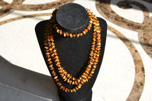 "70"" Multicolored Amber Necklace"