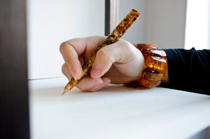 "5 1/2"" Amber Conical Pen"