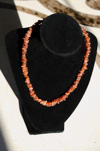 "17"" Cognac Raw Unpolished Amber Necklace"