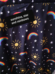 sunshine, star and rainbow