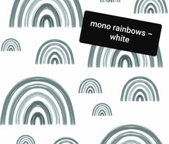 mono rainbows - white