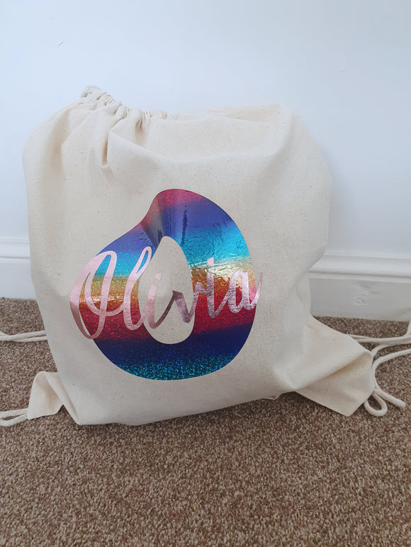 Gym/PE/swimming bag - personalised