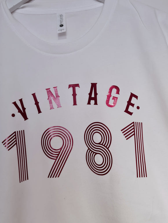 Vintage tee - Any birth year