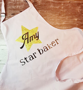 Personalised adult star baker apron