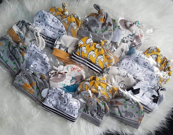 Hat and mitts sets (or hat only) (baby to 1-2y)