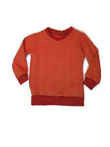 Burnt orange cable knit sweater 4-5